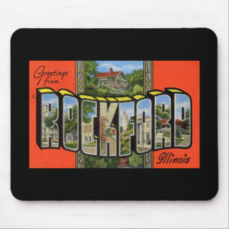 Greetings from Rockford Illinois Mouse Pad