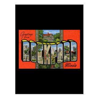 Greetings from Rockford Illinois Postcard