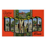 Greetings from Rockford Illinois Poster