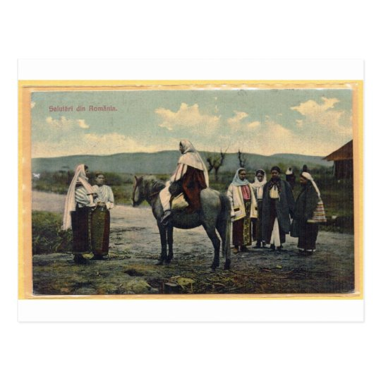 Greetings from romania postcard mailed in 1910 zazzle greetings from romania postcard mailed in 1910 m4hsunfo