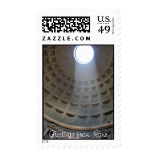 Greetings from Rome Pantheon Postage Stamp