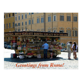 Greetings from Rome Postcard
