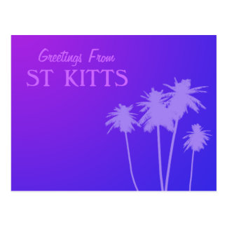 Greetings From Saint Kitts Postcard