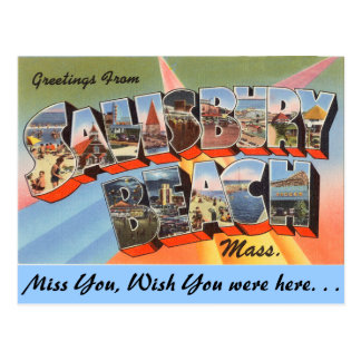 Greetings from Salisbury Beach, Mass. Postcard