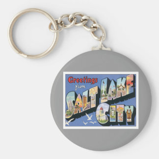 Greetings From Salt Lake City Utah Basic Round Button Keychain