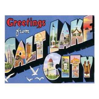 Greetings From Salt Lake City Utah Postcard