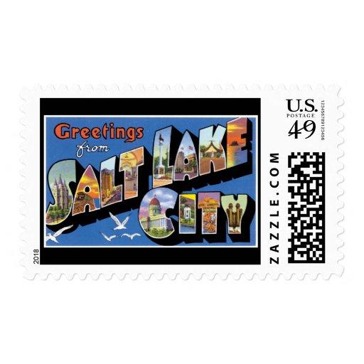 Greetings from Salt Lake City, Utah Stamp