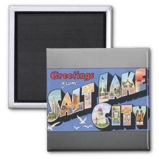 Greetings From Salt Lake City, Vintage Magnet