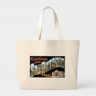 Greetings From San Antonio Texas Large Tote Bag