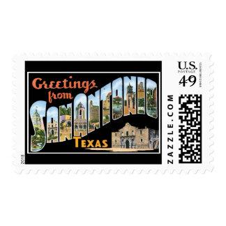 Greetings from San Antonio Texas Postage