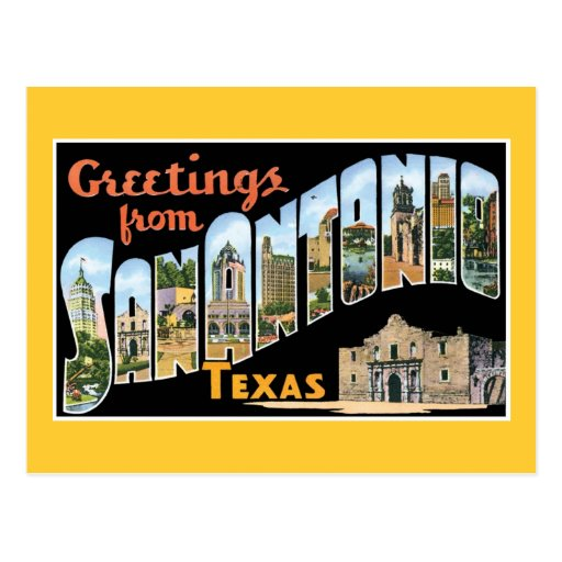 Greetings From San Antonio Texas Postcard
