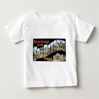 Greetings from San Antonio, Texas! Retro Post Card Baby T-Shirt