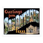 Greetings From San Antonio Texas US City Postcard