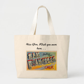 Greetings from San Francisco Jumbo Tote Bag