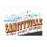 Greetings from Sanityville - A Nice Place to Visit Postcard