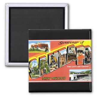 Greetings From Santa Fe 2 Inch Square Magnet