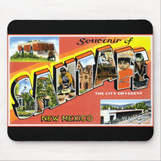 Greetings From Santa Fe Mouse Pads