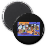 Greetings from Santa Fe New Mexico 2 Inch Round Magnet