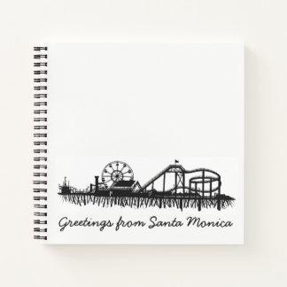 Greetings from Santa Monica California Beach Pier Notebook