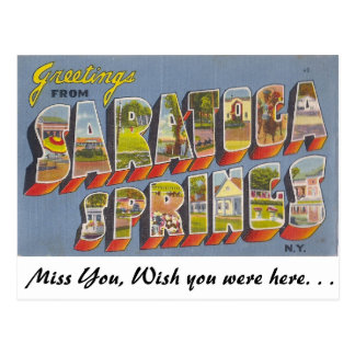Greetings from Saratoga Springs Postcard