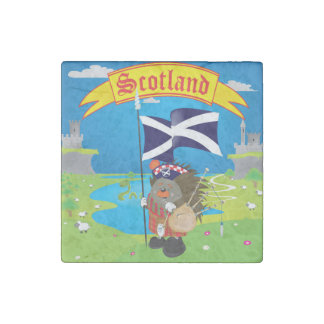 Greetings from Scotland Stone Magnet