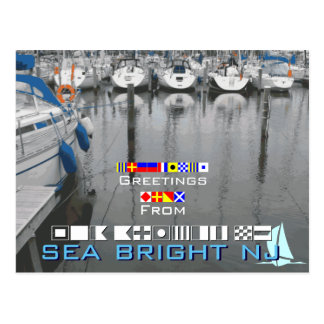 Greetings from Sea Bright NJ New Jersey Postcard