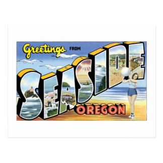 Greetings from Seaside, Oregon Post Card