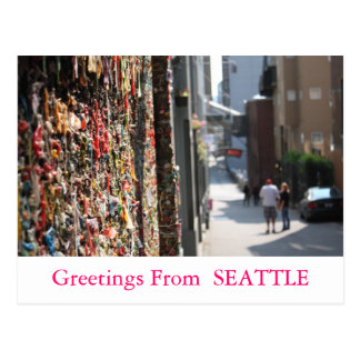 Greetings From Seattle postcard