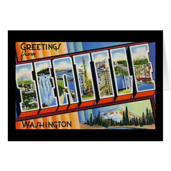 Greetings from Seattle Washington Card