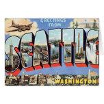 Greetings From Seattle, Washington USA Card