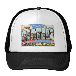 Greetings From Seattle, Washington USA Trucker Hat