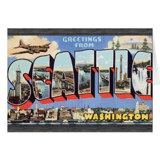 Greetings From Seattle Washington, Vintage Greeting Card