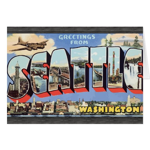 Greetings From Seattle Washington, Vintage Cards