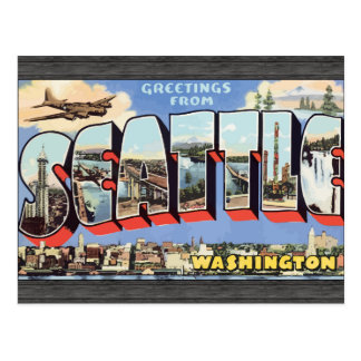 Greetings From Seattle Washington, Vintage Post Card