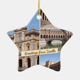 Greetings from Sevilla Ceramic Ornament
