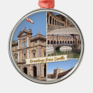 Greetings from Sevilla Metal Ornament