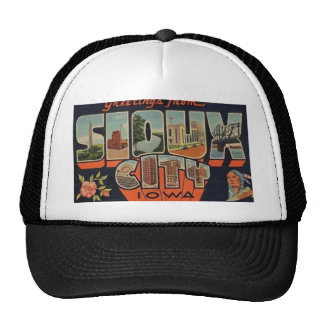 Greetings From Sioux City Iowa, Vintage Trucker Hat