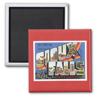 Greetings From Sioux Falls,South Dakota Refrigerator Magnets