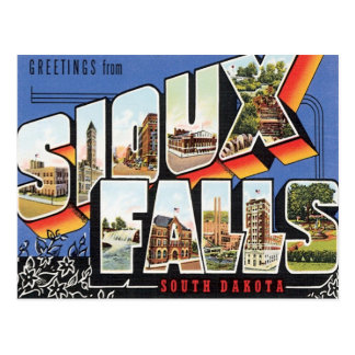 Greetings From Sioux Falls,South Dakota Postcard