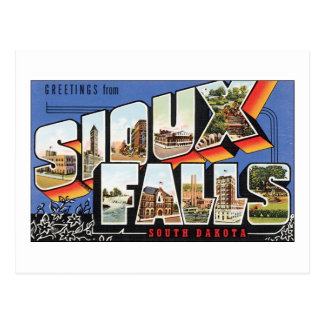 Greetings from Sioux Falls, South Dakota Postcard