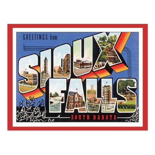 Greetings From Sioux Falls,South Dakota Postcard