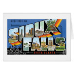 Greetings from Sioux Falls, South Dakota! Retro Greeting Card