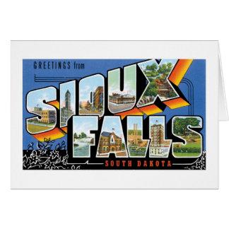 Greetings from Sioux Falls, South Dakota! Retro Card