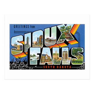 Greetings from Sioux Falls, South Dakota! Retro Post Card