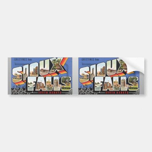 Greetings From Sioux Falls South Dakota, Vintage Bumper Sticker