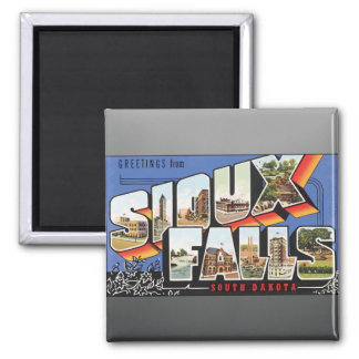 Greetings From Sioux Falls South Dakota, Vintage Refrigerator Magnets