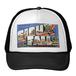 Greetings From Sioux Falls South Dakota, Vintage Trucker Hat