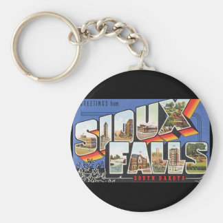Greetings from Sioux Falls_Vintage Travel Poster Keychain