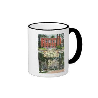 Greetings from Skidmore College Scenes Ringer Coffee Mug