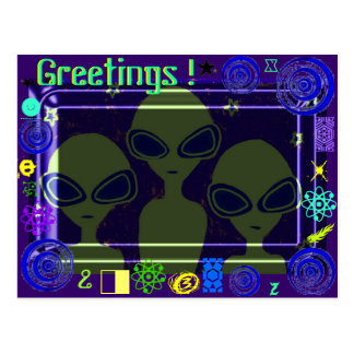 Greetings From Somewhere in the Solar System !!! Postcard